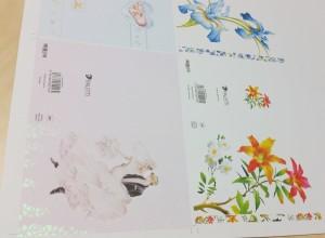 Katmata paberi lakiga glitter katmata kartongist postkaartidel